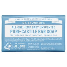 All-One Hemp Pure-Castile Soap Bar, Unscented Baby-Mild