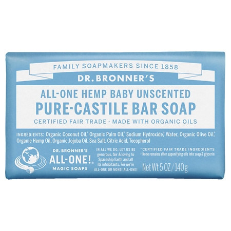 Dr. Bronner's All-One Hemp Pure-Castile Soap Bar Baby-Mild