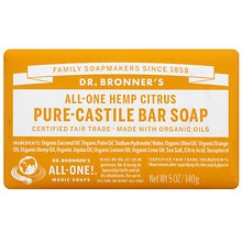 All-One Hemp Pure-Castile Soap Bar, Citrus Orange
