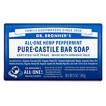 Dr. Bronner's All-One Hemp Pure-Castile Soap Bar Peppermint