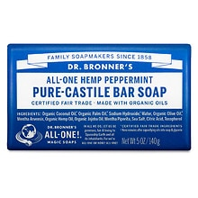 All-One Hemp Pure-Castile Soap Bar, Peppermint