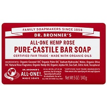 All-One Hemp Pure-Castile Soap Bar, Rose
