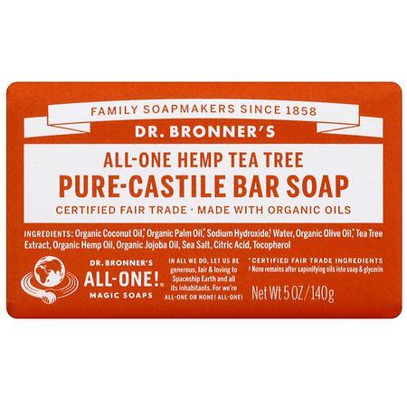 All-One Hemp Pure-Castile Bar Soap Tea Tree by Dr. Bronner's