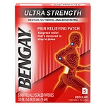 BenGay Ultra Strength Pain Relieving Patch, Regular for Neck to Arm