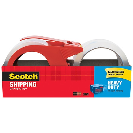 Scotch Packaging Tape with Dispenser 1.88 in x 38.2 yd
