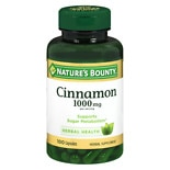 Nature's Bounty Cinnamon 1000 mg Dietary Supplement Capsules