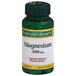 Magnesium 500 mg Dietary Supplement Tablets