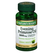 Nature's Bounty Standardized GLA 9% Evening Primrose Oil 1000 mg/90 mg Herbal Supplement Rapid R