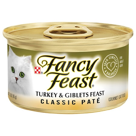 Fancy Feast Classic Gourmet Cat Food Turkey & Giblets