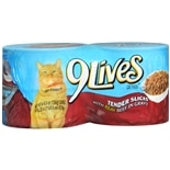 9 Lives Canned Cat Food 4 Pack Beef