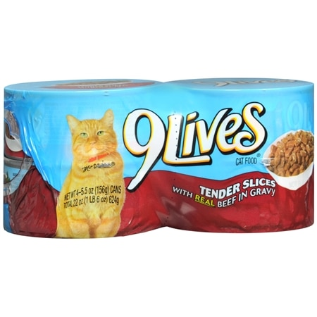 9 Lives Canned Cat Food Beef