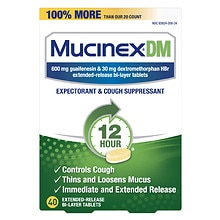 MucinexDM DM Cough & Chest Congestion Tablets