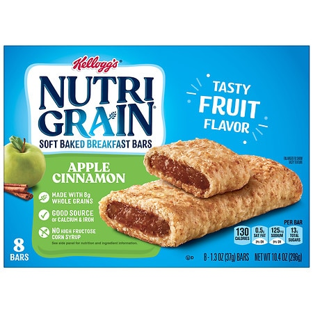 Nutri-Grain Cereal Bars 8 Pack Apple Cinnamon, 8 pk