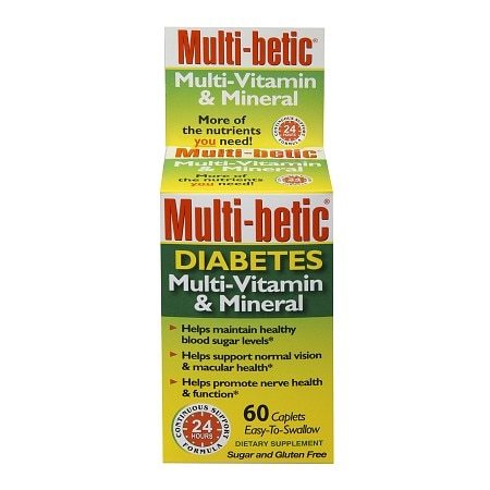 Multi-betic Diabetes Multivitamin/Multi-Mineral Dietary Supplement Caplets