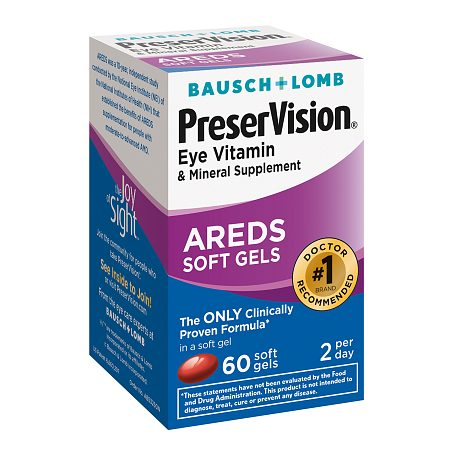 PreserVision Eye Vitamin and Mineral Supplement, with AREDS, Softgels