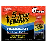 5 Hour Energy Dietary Supplement Shot 6 Pack Berry