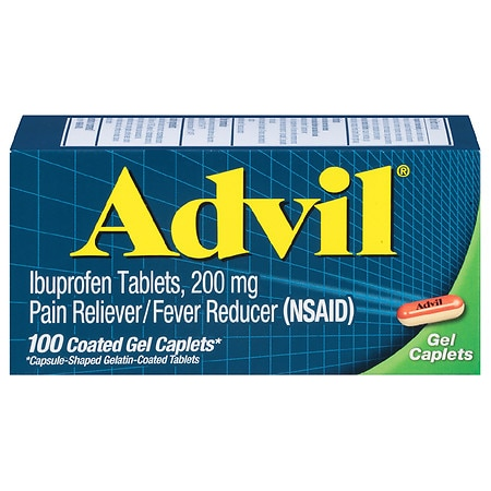 Advil Ibuprofen Pain Reliever & Fever Reducer Gel Caplets - 100 ea