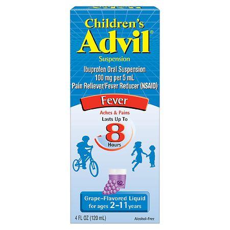 Children's Advil Ibuprofen Oral Suspension Grape - 4 fl oz