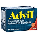 Advil Ibuprofen Pain Reliever/  Fever Reducer Tablets, 200 mg