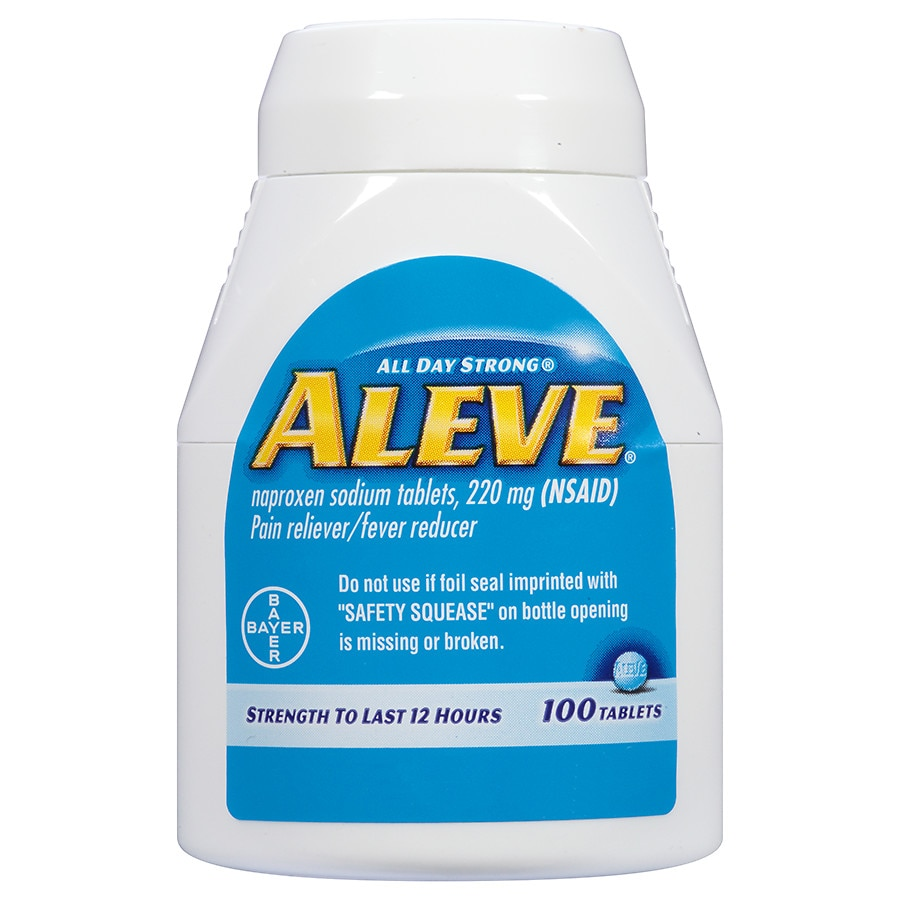 Aleve Pain Relieverfever Reducer 220 Mg Tablets Walgreens