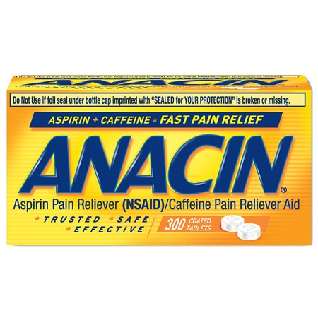 Image of Anacin Pain Reliever, Coated Tablets - 300 ea