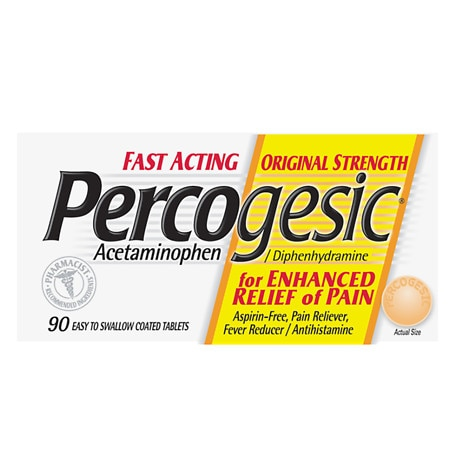 Percogesic Pain RelieverFever Reducer Tablets - 90