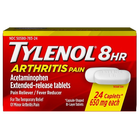 TYLENOL Arthritis Pain Caplets, 8 HR Extended Release Pain Reliever & Fever Reducer
