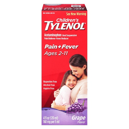 Children's TYLENOL Acetaminophen Oral Suspension Pain & Fever Reducer Grape - 4 fl oz