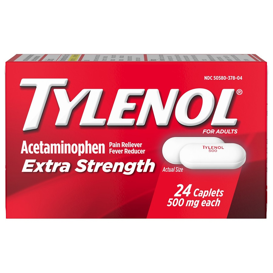 tylenol extra strength acetaminophen 500 mg caplets walgreens