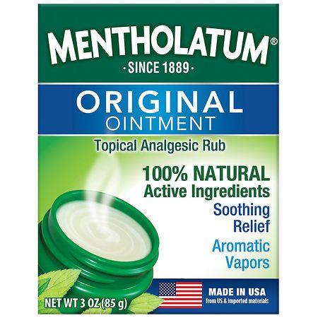 Mentholatum Ointment/Topical Analgesic/Aromatic Vapors - 3 oz.