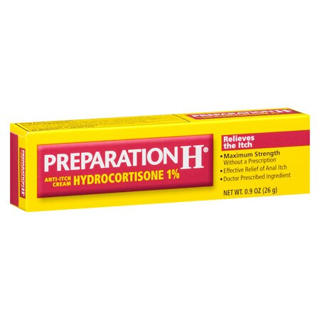Preparation H Hydrocortisone 1% Anti-Itch Cream - 0.9 oz.