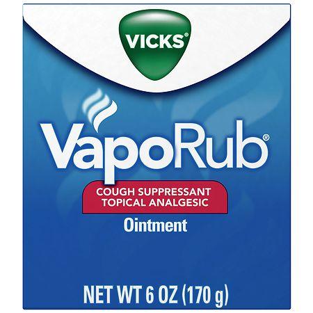 Vicks Vaporub Cough Suppressant Topical Analgesic Ointment Original - 6 oz.