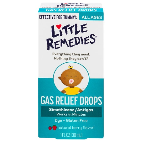 Little Tummys Gas Relief Drops, Natural Berry Flavor, 100 Doses Berry