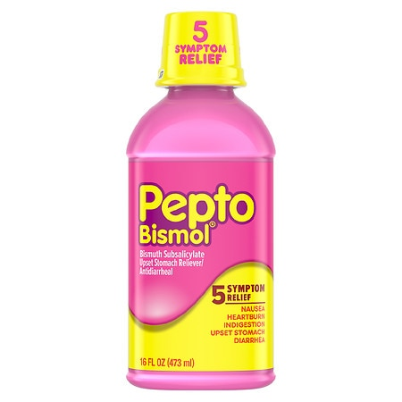 Pepto-Bismol Upset Stomach Reliever/Antidiarrheal Liquid Original