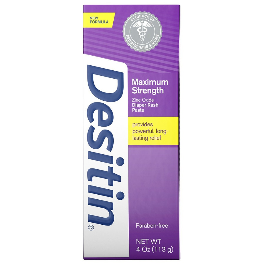 Desitin Maximum Strength Baby Diaper Rash Cream With Zinc Oxide