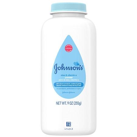 Johnson's Baby Powder Aloe & Vitamin E - 9 oz.