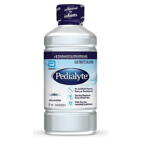 Pedialyte Electrolyte Solution Ready-To-Drink Unflavored - 33.8 fl oz