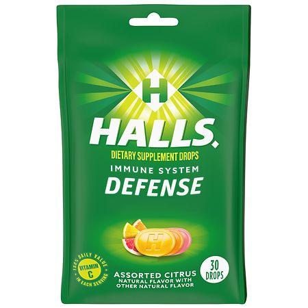 Halls Defense Vitamin C Supplement Drops Assorted Citrus - 30 ea