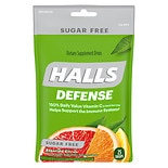 Halls Sugar Free Cough Suppressant Drops Citrus Blend Flavor