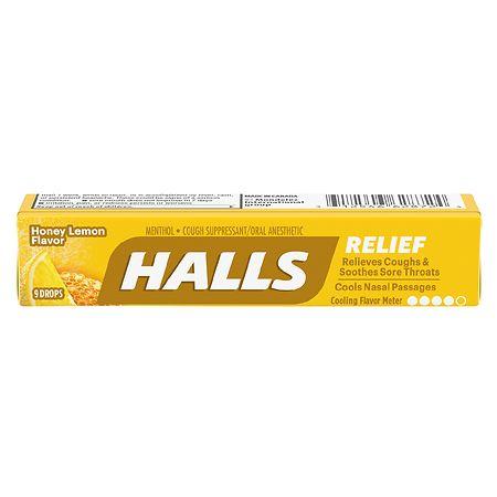 Halls Cough Suppressant Drops, Lemon Lime - 9 ea