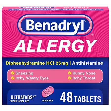 Benadryl Allergy Ultratabs Tablets - 48 ea