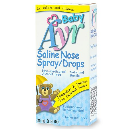 Ayr Baby's Saline Nose Spray, Drops - 1 fl oz