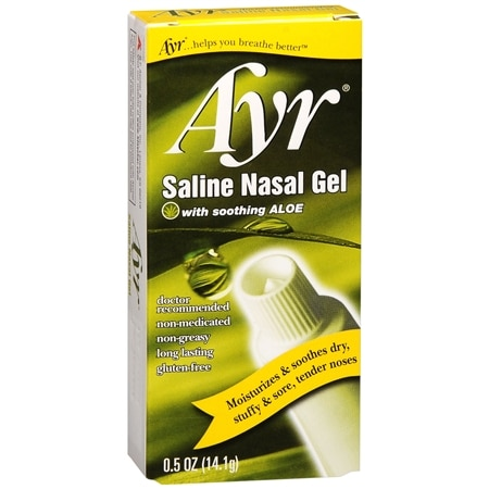 Nasal saline gel spray