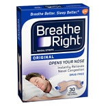 Breathe Right Original Tan Small/ Medium Nasal Strips Small/ Medium Tan