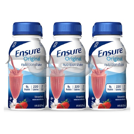 Ensure Nutrition Shake Strawberries & Cream, 6 pk