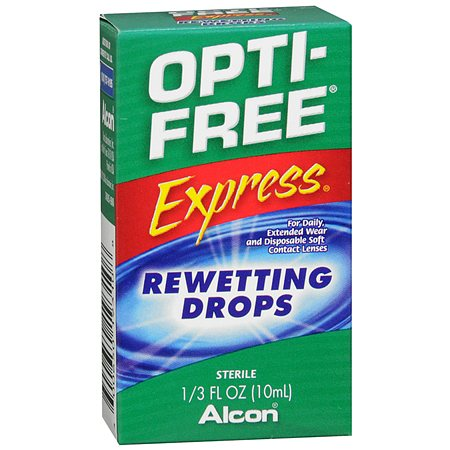 Opti-Free Express Contact Lenses Rewetting Drops - 0.33 fl oz