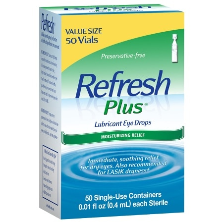 Refresh Plus Lubricant Eye Drops - 50 ea
