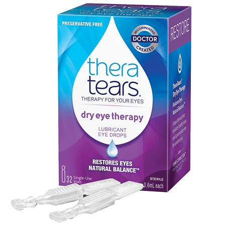 TheraTears Lubricant Eye Drops 32 Single Use Containers - 0.06 oz. x 32 pack