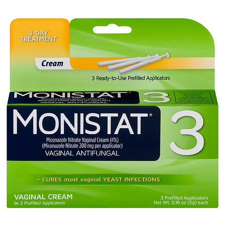 Image of Monistat 3 Vaginal Antifungal - 3 ea