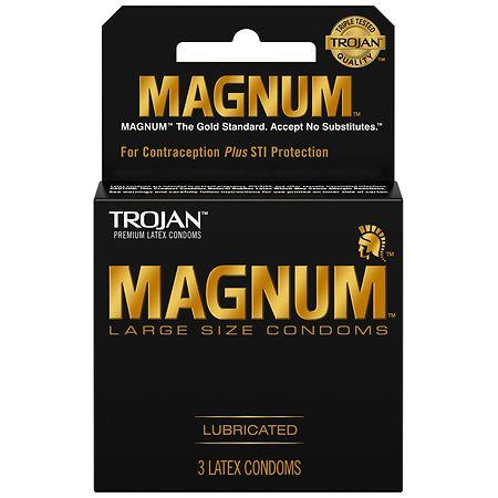 Trojan Magnum Lubricated Latex Condoms Large -